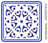 blue and white pattern ... | Shutterstock .eps vector #1223427271
