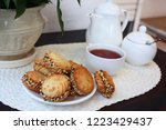 delicious cookies with...   Shutterstock . vector #1223429437