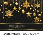 merry christmas and happy new... | Shutterstock .eps vector #1223429974