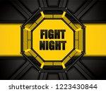 vector illustration of mma cage.... | Shutterstock .eps vector #1223430844