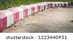 red and white stripes on the...   Shutterstock . vector #1223440951