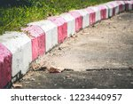red and white stripes on the...   Shutterstock . vector #1223440957