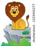lion theme image 4   eps10... | Shutterstock .eps vector #1223442277