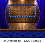 concert hall with rows of... | Shutterstock .eps vector #1223443591