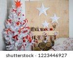 white christmas tree in the...   Shutterstock . vector #1223446927