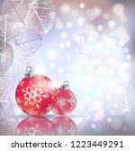 festive winter greeting card...   Shutterstock .eps vector #1223449291