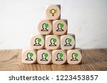many people together having an... | Shutterstock . vector #1223453857