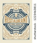 menu restaurant cover | Shutterstock .eps vector #1223463811