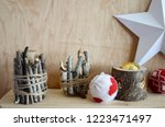 christmas gifts  greeting...   Shutterstock . vector #1223471497