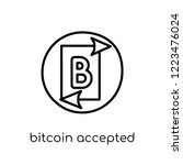 bitcoin accepted icon. trendy... | Shutterstock .eps vector #1223476024