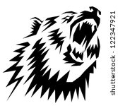 tattoo grizzly | Shutterstock . vector #122347921