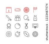 vector illustration of 16... | Shutterstock .eps vector #1223487574