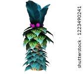 fantasy pal tree 2d game asset... | Shutterstock . vector #1223490241