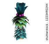 fantasy pal tree 2d game asset... | Shutterstock . vector #1223490244