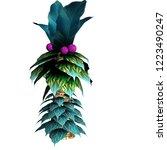 fantasy pal tree 2d game asset... | Shutterstock . vector #1223490247
