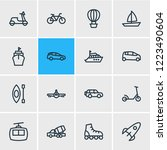 vector illustration of 16... | Shutterstock .eps vector #1223490604