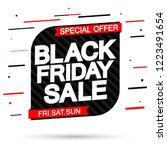 black friday sale  banner... | Shutterstock .eps vector #1223491654