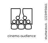 cinema audience icon. trendy... | Shutterstock .eps vector #1223493661