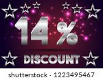 14  off discount promotion sale ... | Shutterstock .eps vector #1223495467