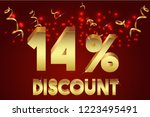 14  off discount promotion sale ... | Shutterstock .eps vector #1223495491