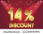 14  off discount promotion sale ... | Shutterstock .eps vector #1223495494