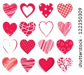 Valentine Day Doodle Hearts