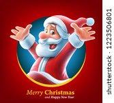 santa claus in a circle | Shutterstock .eps vector #1223506801