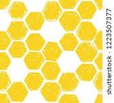 honeycomb seamless pattern.... | Shutterstock .eps vector #1223507377