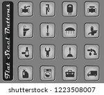 plumbing service vector web... | Shutterstock .eps vector #1223508007