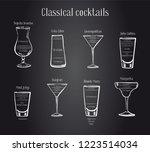 classic cocktails recipe.... | Shutterstock .eps vector #1223514034