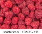 raspberrys background. close up ... | Shutterstock . vector #1223517541