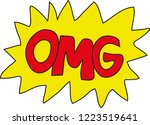 vector graphics with omg tag ...   Shutterstock .eps vector #1223519641