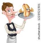 an illustration of a cartoon... | Shutterstock .eps vector #1223521501