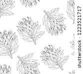protea  tropical flower  vector ... | Shutterstock .eps vector #1223521717