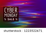 cyber monday sale discout web... | Shutterstock .eps vector #1223522671