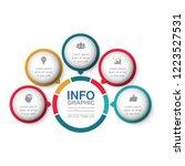 vector infographic template for ...   Shutterstock .eps vector #1223527531