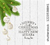 merry christmas poster with... | Shutterstock .eps vector #1223538841