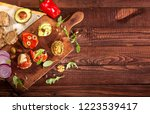 collection of different mini... | Shutterstock . vector #1223539417
