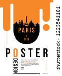 paris modern web banner design... | Shutterstock .eps vector #1223541181