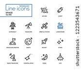 space concept   line design... | Shutterstock .eps vector #1223543671