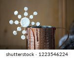 hot chocolate decorated with a... | Shutterstock . vector #1223546224