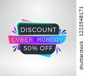 cyber monday sale sticker.... | Shutterstock .eps vector #1223548171