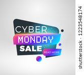 cyber monday sale sticker.... | Shutterstock .eps vector #1223548174