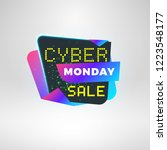 cyber monday sale sticker.... | Shutterstock .eps vector #1223548177