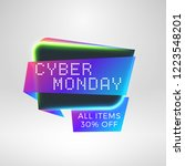cyber monday sale sticker.... | Shutterstock .eps vector #1223548201