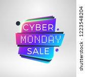 cyber monday sale sticker.... | Shutterstock .eps vector #1223548204