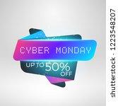 cyber monday sale sticker.... | Shutterstock .eps vector #1223548207