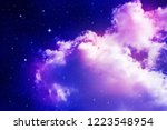 colorful night sky with cloud... | Shutterstock . vector #1223548954