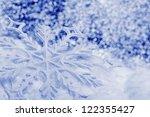 snowflake big close up. bokeh a ... | Shutterstock . vector #122355427