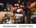 the system of bottling beer on... | Shutterstock . vector #1223577001